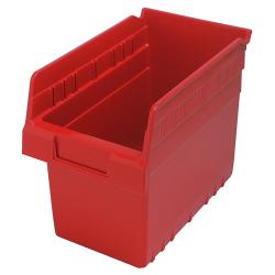 "11-5/8"" L x 6-5/8"" W x 8"" H Red Store-Max Shelf Bin"