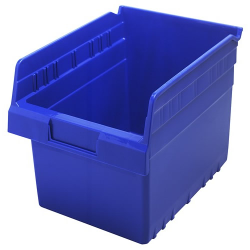 "11-5/8"" L x 8-3/8"" W x 8"" H Blue Store-Max Shelf Bin"