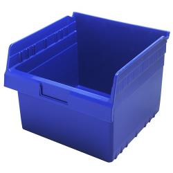 "11-5/8"" L x 11-1/8"" W x 8"" H Blue Store-Max Shelf Bin"