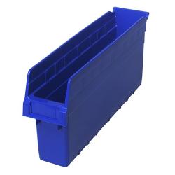 "17-7/8"" L x 4-3/8"" W x 8"" H Blue Store-Max Shelf Bin"