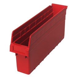 "17-7/8"" L x 4-3/8"" W x 8"" H Red Store-Max Shelf Bin"
