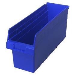 "17-7/8"" L x 6-5/8"" W x 8"" H Blue Store-Max Shelf Bin"
