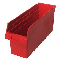 "17-7/8"" L x 6-5/8"" W x 8"" H Red Store-Max Shelf Bin"