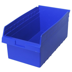 "17-7/8"" L x 11-1/8"" W x 8"" H Blue Store-Max Shelf Bin"