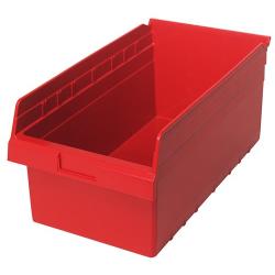 "17-7/8"" L x 11-1/8"" W x 8"" H Red Store-Max Shelf Bin"