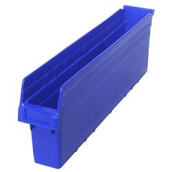 "23-5/8"" L x 4-3/8"" W x 8"" H Blue Store-Max Shelf Bin"
