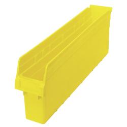 """23-5/8"""" L x 4-3/8"""" W x 8"""" H Yellow Store-Max Shelf Bin"""