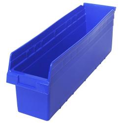 "23-5/8"" L x 6-5/8"" W x 8"" H Blue Store-Max Shelf Bin"