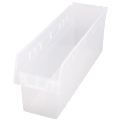 "23-5/8"" L x 6-5/8"" W x 8"" H Clear Store-Max Shelf Bin"