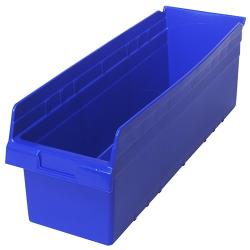 "23-5/8"" L x 8-3/8"" W x 8"" H Blue Store-Max Shelf Bin"