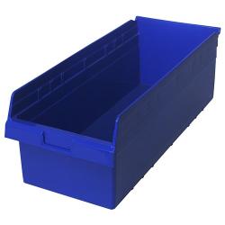 "23-5/8"" L x 11-1/8"" W x 8"" H Blue Store-Max Shelf Bin"