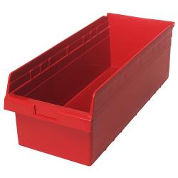 "23-5/8"" L x 11-1/8"" W x 8"" H Red Store-Max Shelf Bin"