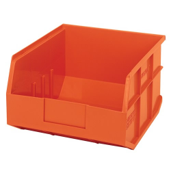 "12"" L x 11"" W x 7"" Hgt. Quantum® Orange  Stackable Shelf Bin"