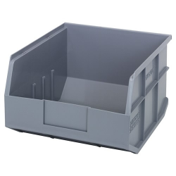 "12"" L x 11"" W x 7"" Hgt. Quantum® Gray  Stackable Shelf Bin"