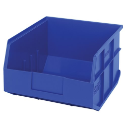 "12"" L x 11"" W x 7"" Hgt. Quantum® Blue  Stackable Shelf Bin"