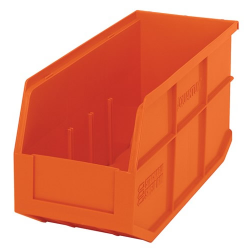 "14"" L x 6"" W x 7"" Hgt. Quantum® Orange  Stackable Shelf Bin"