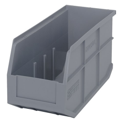 "14"" L x 6"" W x 7"" Hgt. Quantum® Gray  Stackable Shelf Bin"