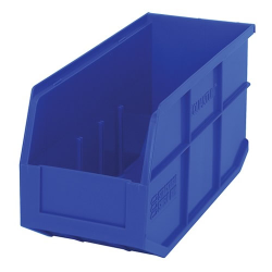 "14"" L x 6"" W x 7"" Hgt. Quantum® Blue  Stackable Shelf Bin"