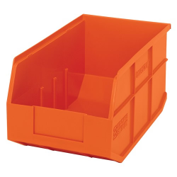 "14"" L x 8-1/4"" W x 7"" Hgt. Quantum® Orange  Stackable Shelf Bin"