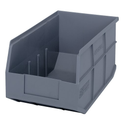 "14"" L x 8-1/4"" W x 7"" Hgt. Quantum® Gray  Stackable Shelf Bin"