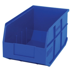 "14"" L x 8-1/4"" W x 7"" Hgt. Quantum® Blue  Stackable Shelf Bin"
