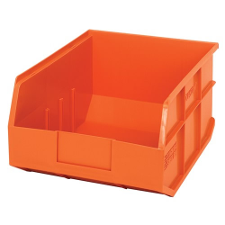 "14"" L x 11"" W x 7"" Hgt. Quantum® Orange  Stackable Shelf Bin"