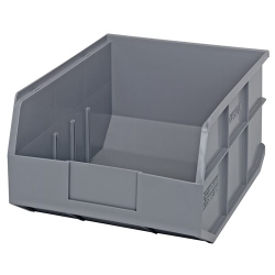 "14"" L x 11"" W x 7"" Hgt. Quantum® Gray  Stackable Shelf Bin"