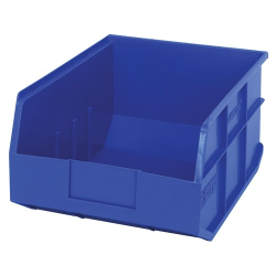 "14"" L x 11"" W x 7"" Hgt. Quantum® Blue  Stackable Shelf Bin"