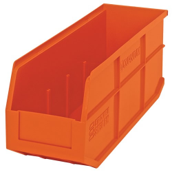"18"" L x 6"" W x 7"" Hgt. Quantum® Orange  Stackable Shelf Bin"