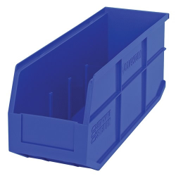 "18"" L x 6"" W x 7"" Hgt. Quantum® Blue  Stackable Shelf Bin"