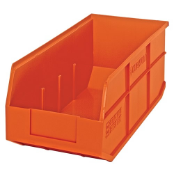 "18"" L x 8-1/4"" W x 7"" Hgt. Quantum® Orange  Stackable Shelf Bin"
