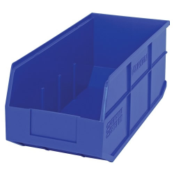 "18"" L x 8-1/4"" W x 7"" Hgt. Quantum® Blue  Stackable Shelf Bin"