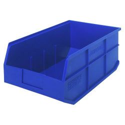 "18"" L x 11"" W x 7"" Hgt. Quantum® Blue  Stackable Shelf Bin"
