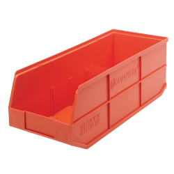 "20-1/2"" L x 8-1/4"" W x 7"" Hgt. Quantum® Orange Stackable Shelf Bin"