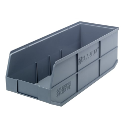 "20-1/2"" L x 8-1/4"" W x 7"" Hgt. Quantum® Gray Stackable Shelf Bin"