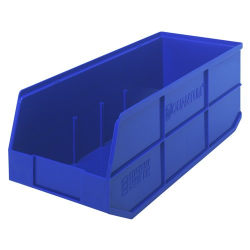 "20-1/2"" L x 8-1/4"" W x 7"" Hgt. Quantum® Blue Stackable Shelf Bin"