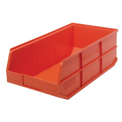 "20-1/2"" L x 11"" W x 7"" Hgt. Quantum® Orange Stackable Shelf Bin"