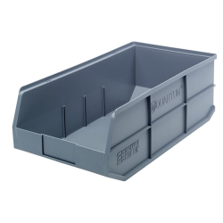 "20-1/2"" L x 11"" W x 7"" Hgt. Quantum® Gray Stackable Shelf Bin"
