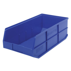 "20-1/2"" L x 11"" W x 7"" Hgt. Quantum® Blue Stackable Shelf Bin"