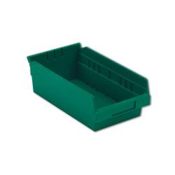 "11-5/8"" L x 6-5/8"" W x 4"" Hgt. Green Shelf Bin"