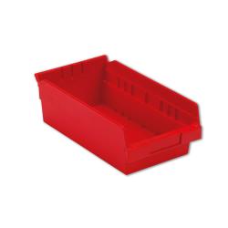 "11-5/8"" L x 6-5/8"" W x 4"" Hgt. Red Shelf Bin"