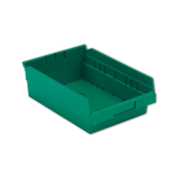 "11-5/8"" L x 8-3/8"" W x 4"" Hgt. Green Shelf Bin"