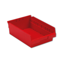 "11-5/8"" L x 8-3/8"" W x 4"" Hgt. Red Shelf Bin"