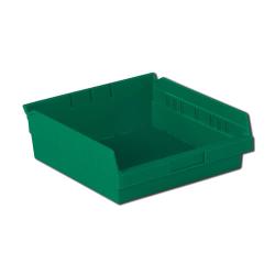 "11-5/8"" L x 11-1/8"" W x 4"" Hgt. Green Shelf Bin"