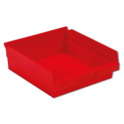 "11-5/8"" L x 11-1/8"" W x 4"" Hgt. Red Shelf Bin"