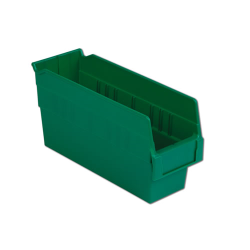 "11-5/8"" L x 4-1/8"" W x 6"" Hgt. Green Shelf Bin"