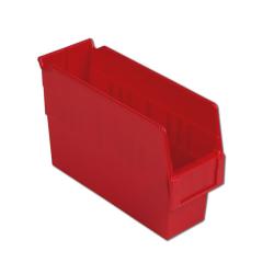 "11-5/8"" L x 4-1/8"" W x 6"" Hgt. Red Shelf Bin"