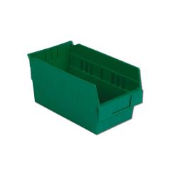 "11-5/8"" L x 6-5/8"" W x 6"" Hgt. Green Shelf Bin"
