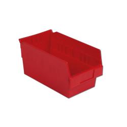 "11-5/8"" L x 6-5/8"" W x 6"" Hgt. Red Shelf Bin"