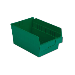 "11-5/8"" L x 8-3/8"" W x 6"" Hgt. Green Shelf Bin"